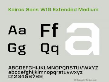 Kairos Sans W1G Ext Medium Version 1.00图片样张
