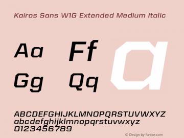Kairos Sans W1G Ext Medium It Version 1.00图片样张