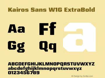 Kairos Sans W1G ExtraBold Version 1.00图片样张