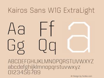 Kairos Sans W1G ExtraLight Version 1.00图片样张
