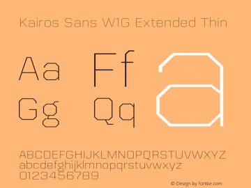 Kairos Sans W1G Ext Thin Version 1.00图片样张