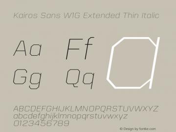 Kairos Sans W1G Ext Thin It Version 1.00图片样张