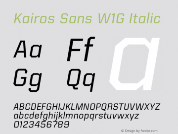 Kairos Sans W1G Italic Version 1.00图片样张