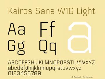 Kairos Sans W1G Light Version 1.00图片样张