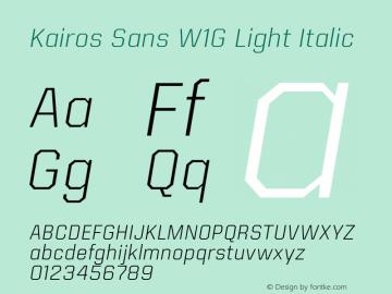 Kairos Sans W1G Light Italic Version 1.00图片样张