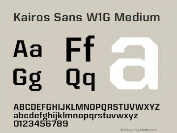 Kairos Sans W1G Medium Version 1.00图片样张