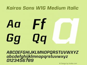 Kairos Sans W1G Medium Italic Version 1.00图片样张