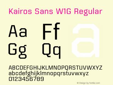 Kairos Sans W1G Version 1.00图片样张