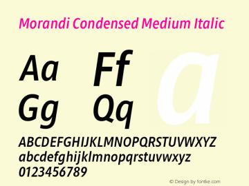 Morandi Cond Medium Italic Version 1.20, build 14, gb1060, s3图片样张
