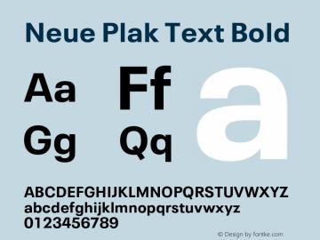 Neue Plak Text Bold Version 1.10, build 13, s3图片样张