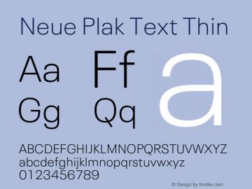 Neue Plak Text Thin Version 1.10, build 13, s3图片样张