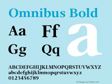 Omnibus Bold Version 1.00图片样张