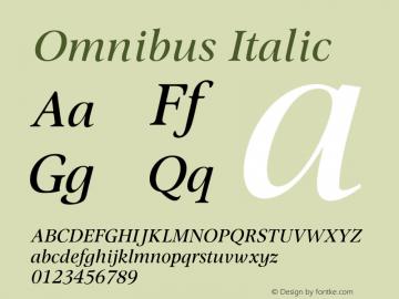 Omnibus Italic Version 1.00图片样张