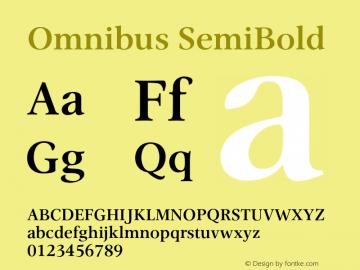 Omnibus SemiBold Version 1.00图片样张