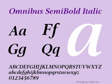 Omnibus SemiBold Italic Version 1.00图片样张