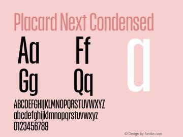 Placard Next Cond Version 1.00, build 12, g2.4.2 b1029, s3图片样张