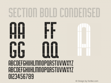 Section Condensed Bold Version 1.00图片样张