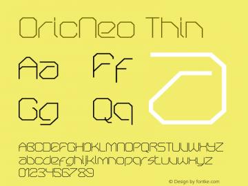 OricNeo Thin 001.000图片样张
