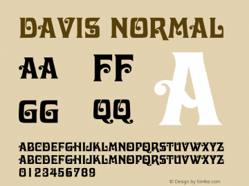 Davis Normal 1.0 Wed Jul 28 03:15:26 1993 Font Sample