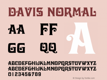 Davis Normal Altsys Fontographer 4.1 11/2/95 Font Sample