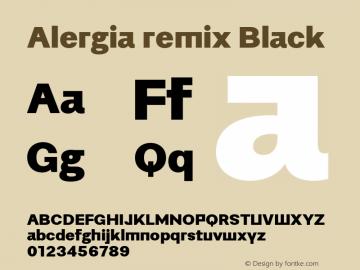 Alergiaremix-Black Version 1.000;PS 001.000;hotconv 1.0.88;makeotf.lib2.5.64775图片样张
