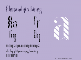 Alexandria Lines Version 1.002;Fontself Maker 3.0.0-0图片样张