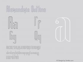 Alexandria Outline Version 1.002;Fontself Maker 3.0.0-0图片样张