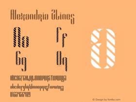 Alexandria 2Lines Version 1.002;Fontself Maker 3.0.0-0图片样张