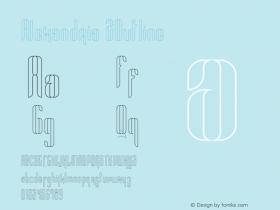 Alexandria 2Outline Version 1.002;Fontself Maker 3.0.0-0图片样张