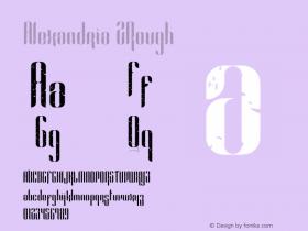 Alexandria 2Rough Version 1.002;Fontself Maker 3.0.0-0图片样张