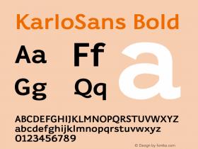 KarloSans Bold Version 001.000 Dec 2017图片样张