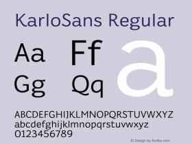 KarloSans Regular Version 001.000 Dec 2017图片样张