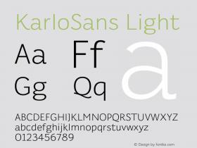 KarloSans Light Version 001.000 Dec 2017图片样张