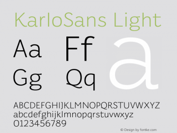 KarloSans Light Version 001.000 Dec 2017图片样张