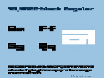 1B_MAZE-black Regular 1.0W图片样张