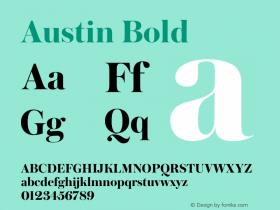 Austin Bold Version 1.001;September 17, 2018;FontCreator 11.5.0.2421 64-bit图片样张