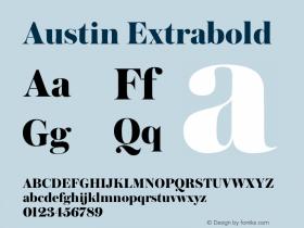 Austin Extrabold Version 1.001;September 17, 2018;FontCreator 11.5.0.2421 64-bit图片样张