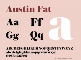 Austin Fat Version 1.001;September 17, 2018;FontCreator 11.5.0.2421 64-bit图片样张