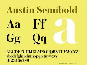 Austin Semibold Version 1.001;September 17, 2018;FontCreator 11.5.0.2421 64-bit图片样张