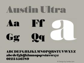 Austin Ultra Version 1.001;September 17, 2018;FontCreator 11.5.0.2421 64-bit图片样张