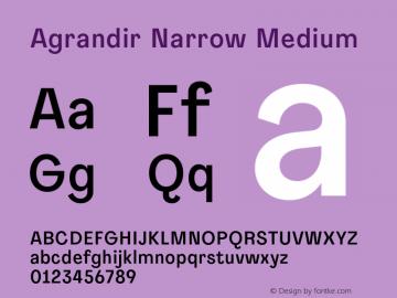 Agrandir-NarrowMedium Version 1.000图片样张