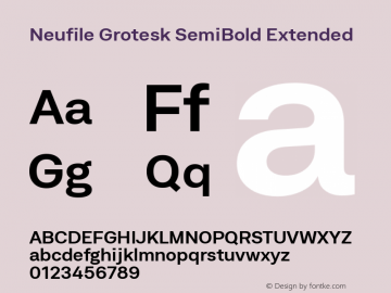 Neufile Grotesk Font,Neufile Grotesk SemBd Ext Font,Neufile