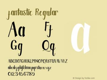 fantastic Version 1.000 Font Sample