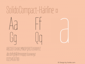 ☞SolidoCompact-Hairline Version 1.001;PS 001.001;hotconv 1.0.56;makeotf.lib2.0.21325;com.myfonts.easy.dstype.solido-compact.hairline.wfkit2.version.3S8k图片样张