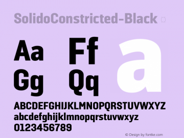 ☞SolidoConstricted-Black Version 1.001;PS 001.001;hotconv 1.0.56;makeotf.lib2.0.21325;com.myfonts.dstype.solido-constricted.black.wfkit2.3S8g图片样张