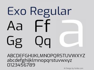 Exo Regular Version 1.500; ttfautohint (v1.6)图片样张