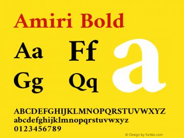 Amiri Bold Version 000.109图片样张