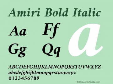 Amiri Bold Italic Version 000.109图片样张