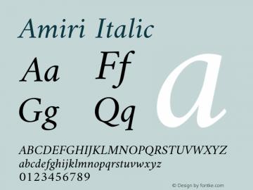 Amiri Italic Version 000.109图片样张