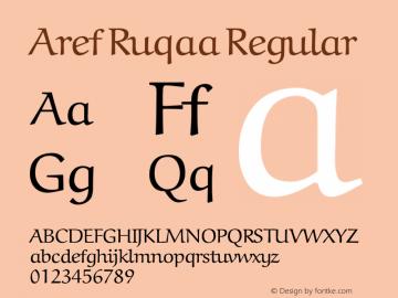 Aref Ruqaa Regular Version 1.0g based on 0.7图片样张